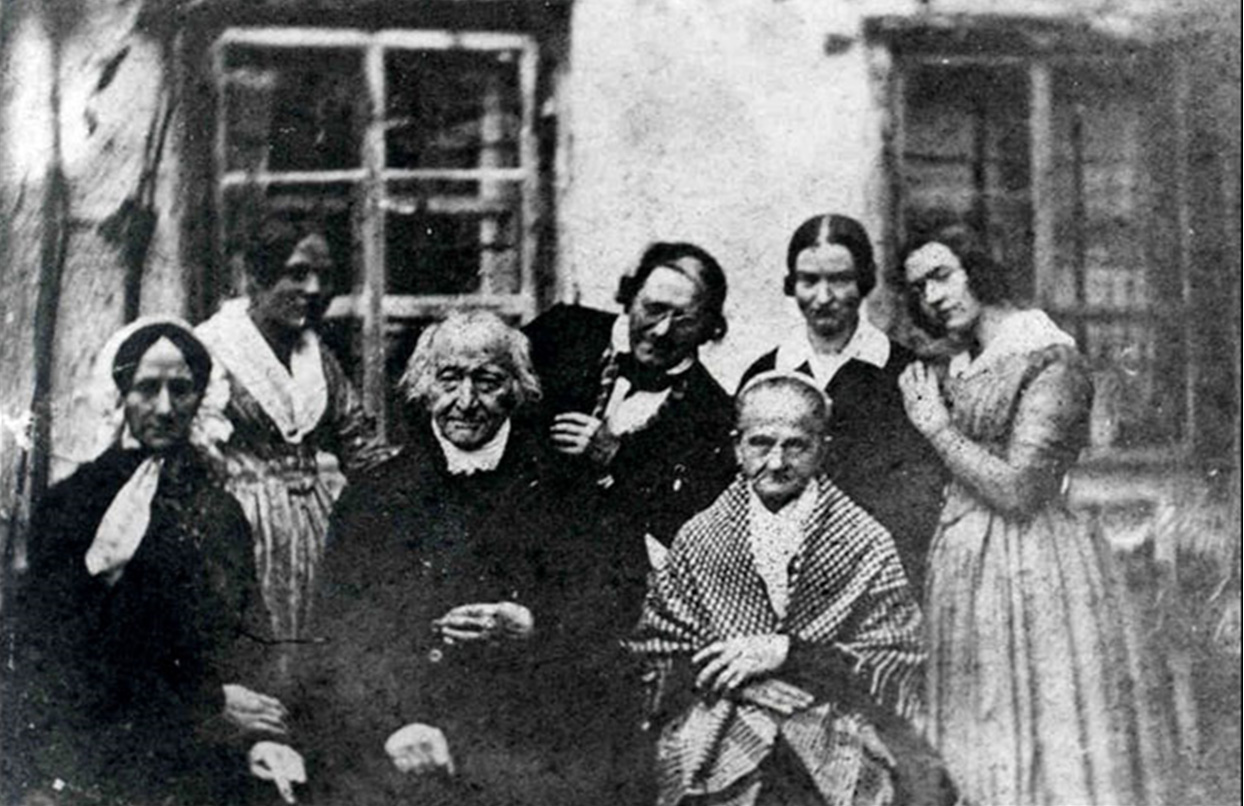 Mozart's widow Constantine with the Keller family